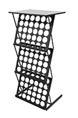 Мобильная стойка для буклетов M-holder Top со столешницей